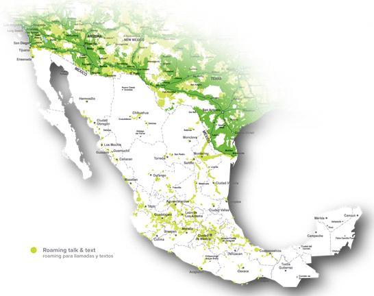 Mexico Voice Roaming Map